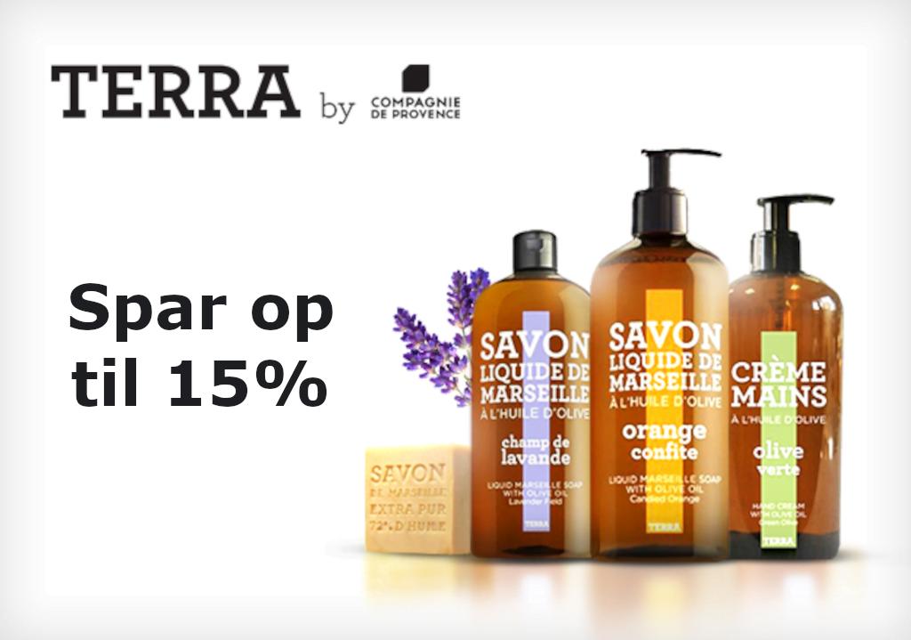 Spar op tli 15%, når du køber Terra fra Compagnie de Provence